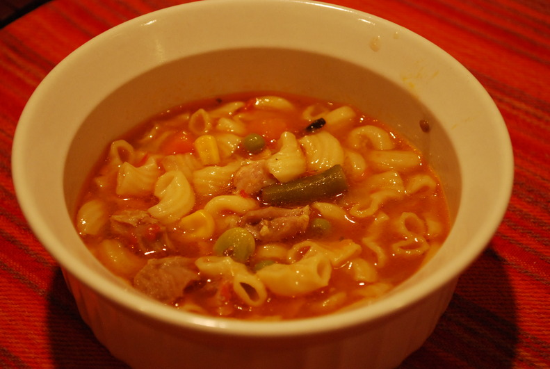 chicken soup which is great when you sick or healthy. ""