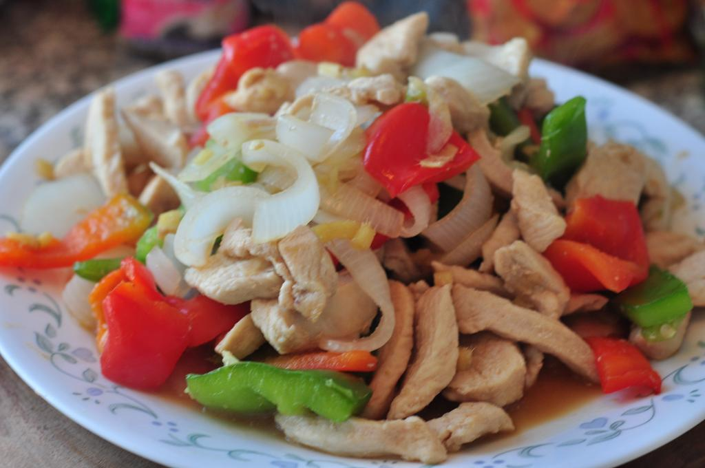 Chicken With Pepper And Onion