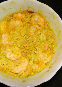 Chingri Mach Shorshe Bhape ( Shrimp Mustard Curry)