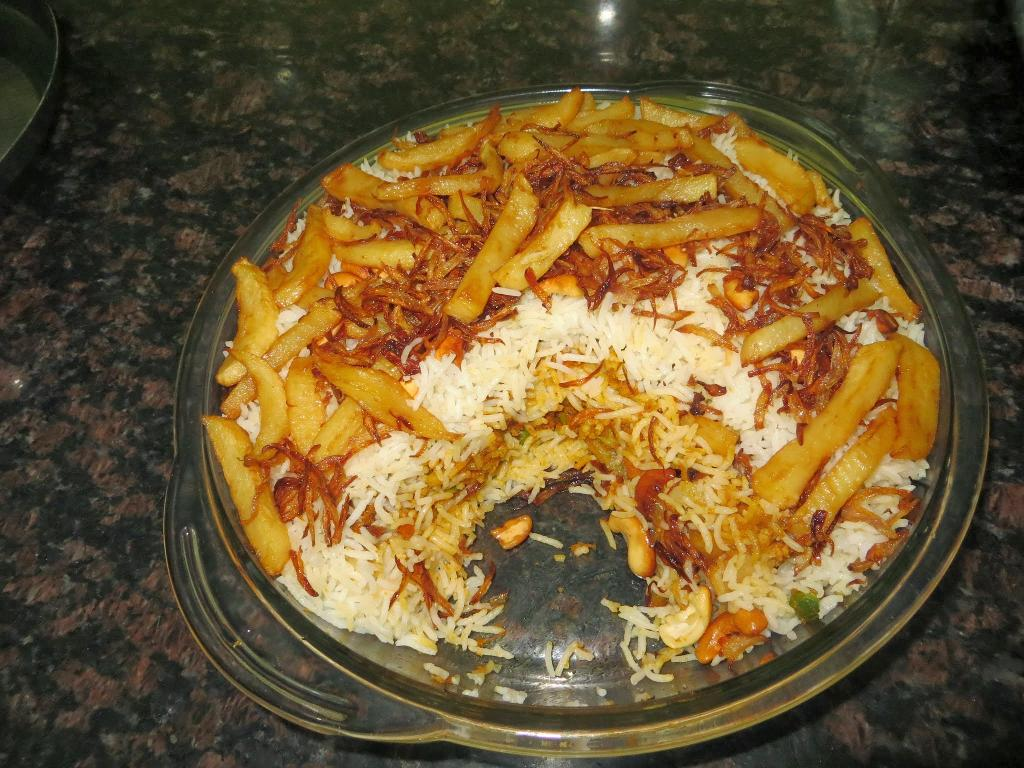 Vegetable Layered Biryani