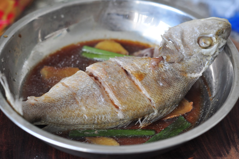 Steam whole fish for Steamed whole fish